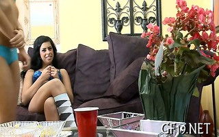 legal age teenager cutie learns to deepthroat