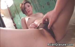 gorgeous brunette hair oriental sweetheart sucks