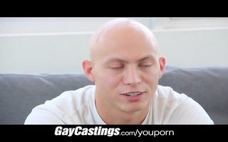 gaycastings bald erotic dancer receives smooth