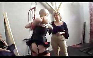 skinhead angel in lingerie breast thraldom