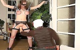 brutal wet crack fisting in tight rope servitude
