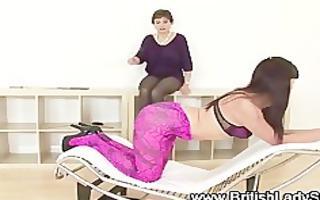 femdom older lady sonia thrashing gal
