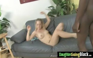 youthful daughter with nice a-hole drilled by a