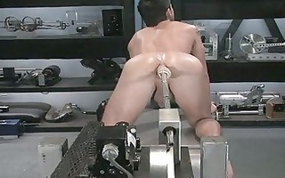 nasty homosexual chap toys his gaping rectal hole