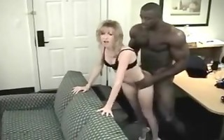 tiny blonde wife loves her muscular black guy