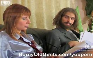older boy copulates juvenile beauty