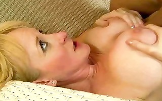 hot breasty grandma receives drilled coarse