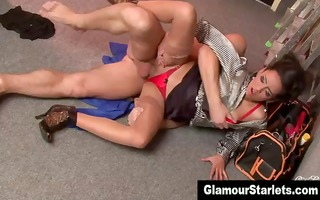 euro fetish pretty bitch acquires a jizz flow