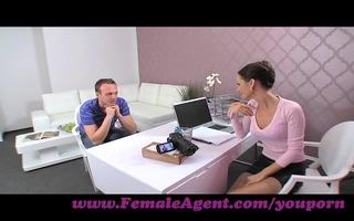 femaleagent. d like to fuck seduces hesitant man