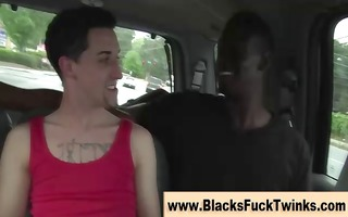 dilettante wicked twink acquires interracial