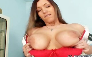 nurse andrea masturbating with big fake penis and