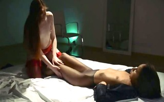 unparalleled lesbs in hose using belt