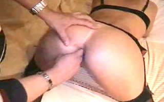 taut arse in nylons fingered
