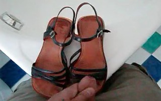 cum wife shoes 10