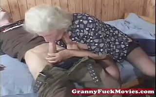 grandma avid for younger cocks