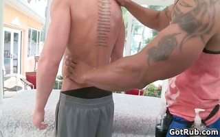 hot ripped hunk acquires outstanding oral job