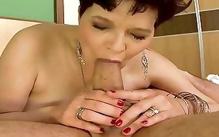 slutty granny does irrumation and gets drilled