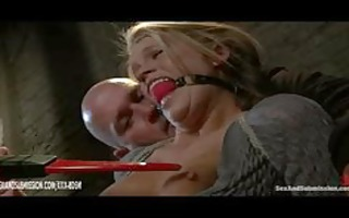 blond honey with lascivious teats receives
