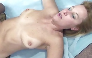 curvy and mature blond liisa is riding a jock