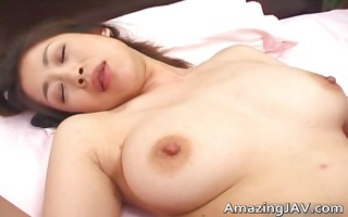 astonishing busty oriental playgirl getting