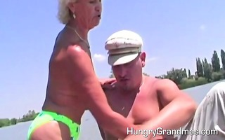 granny got a load of sexy cock juice