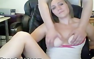 masturbating honey gives hj and gets jizzed