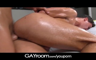 gayroom large arse chap drilled by hunky masseur