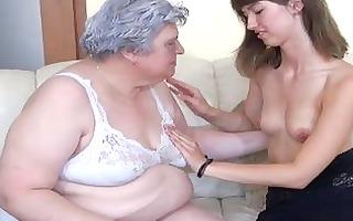 very fat granma like a youthful angel