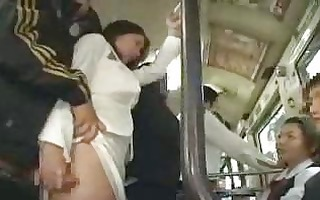 japanese public sex in a bus