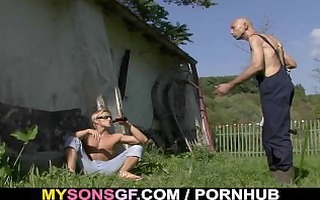 old daddy toying his sons gf wet crack