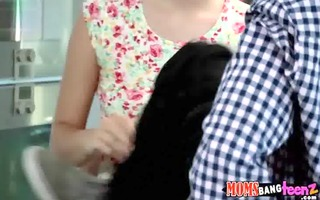 sweet daughter shares bf with her mommy julia