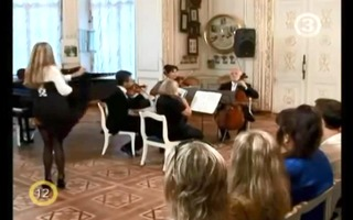 hawt blond undresses to classical music