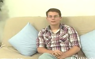 hot str gay in glasses