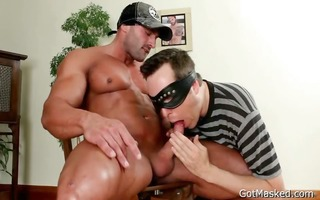 muscled man gets his excellent wang part10