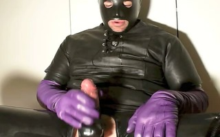purple leather milking