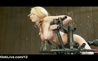 breasty tied blond machine drilled and love