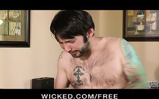 cuckold spouse shares his wife with a well hung