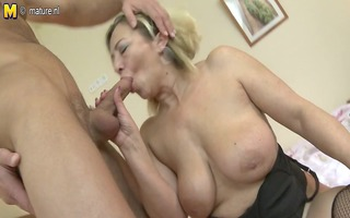 older mommy receives drilled by her toyboy