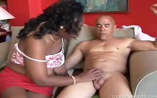 busty mature darksome large nice-looking woman t