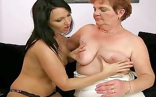 fat granny enjoys lesbo sex with legal age