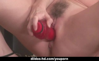 three-some of hotties test out threesome dildo;s