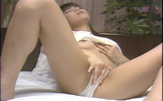 cute oriental angel masturbating