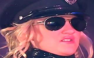 uniformed male cop fucking in latex underware