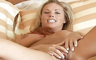 golden-haired d like to fuck massages her massive