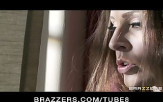 hot brunette hair wife in underware acquires