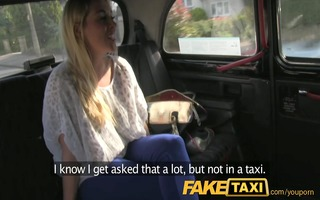 faketaxi red sexy golden-haired with cracking