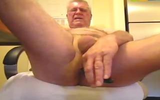 perverted oldman solo wang and a-hole enjoyment