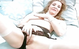 horny aged in underware finger masturbation