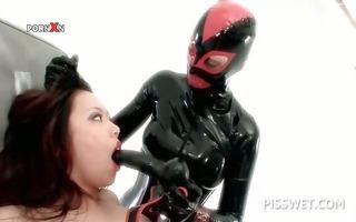 sadomasochism oriental sex serf in latex acquires