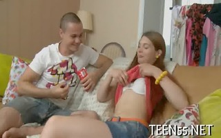 diminutive legal age teenager used by large